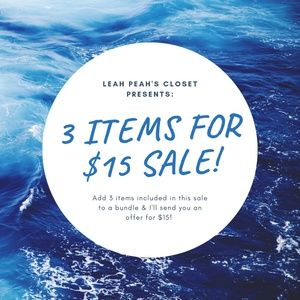 3 Item for $15 Sale! NEW ITEMS ADDED!